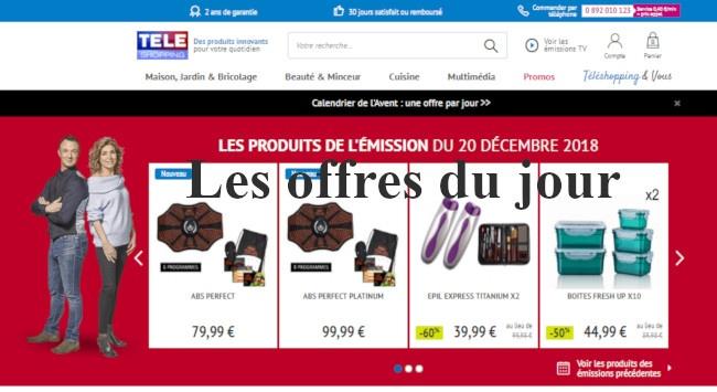 consulter les offres du jour sur teleshopping.fr