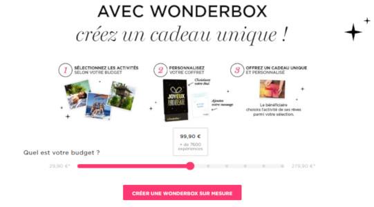 wonderbox personnalisé