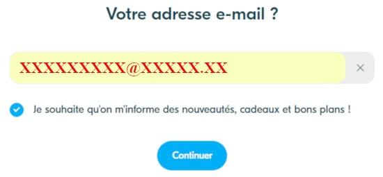 email pour créer compte blablacar