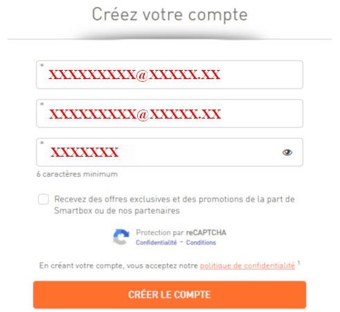 créer mon compte mysmartbox.fr