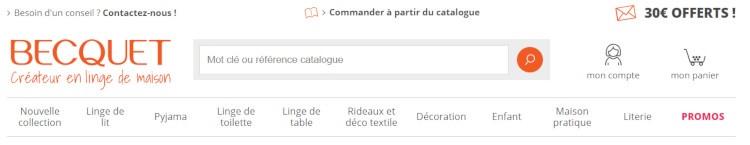 connexion espace personnel Becquet.fr