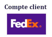 Compte Client FedEx