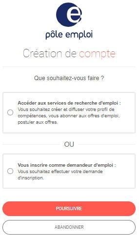 créer mon espace pole-emploi.fr